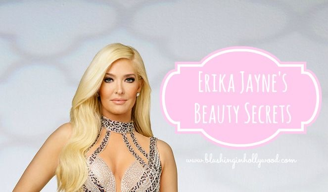 Erika Jayne of Real Housewives of Beverly Hills makeup, hair, beauty, body, and skin care secrets!