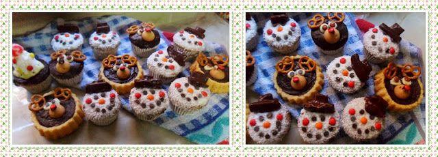 Rececatas: Magdalenas de yogur y miel decoradas como renos o muñecos de nieve
