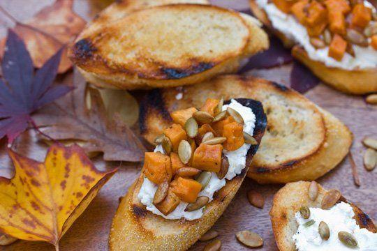 #fall Recipe: Sweet Potato & Goat Cheese Bruschetta — Recipes from The Kitchn