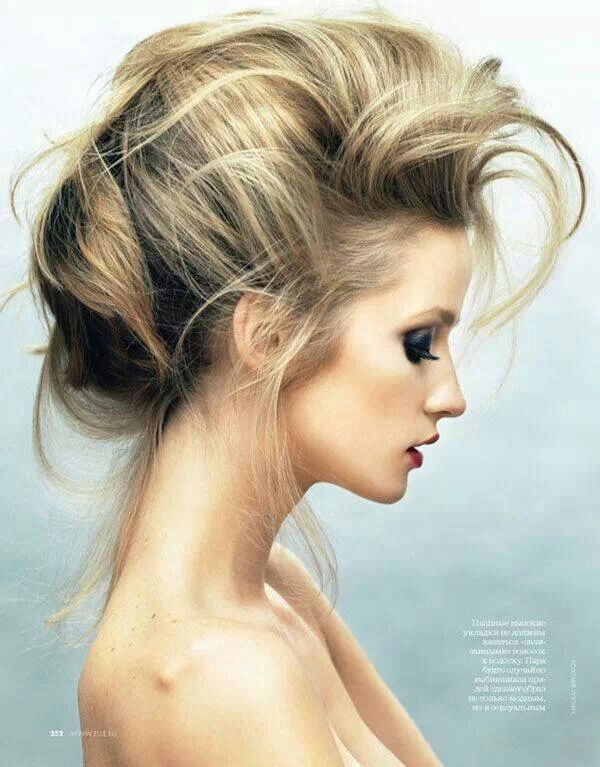 Messy up-do. #HairUp