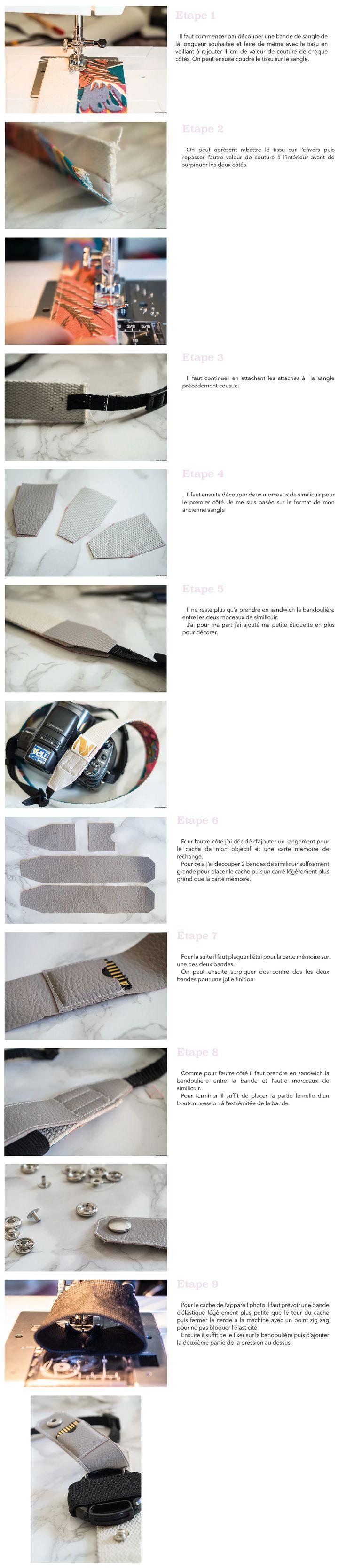 DIY - Bandoulière appareil photo | Site DIY et couture
