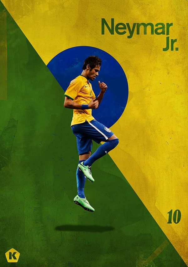 Top 10 Stars at the World Cup   KICKTV by Luke Barclay, via Behance #soccer #poster