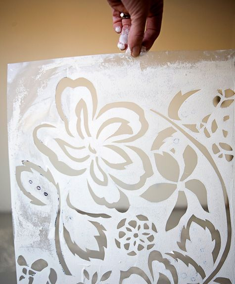 Art Tutorial - Make Your Own Custom Stencils For Painting Walls, Floors or Canvases