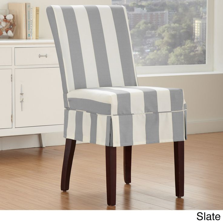 Cabana Dining Chair Relaxed Fit Slipcover with Buttons - Overstock™ Shopping - Big Discounts on Chair Slipcovers