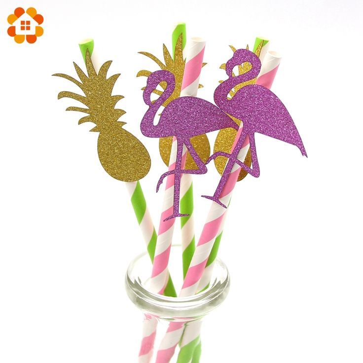 Günstige 5 STÜCKE Flamingo Ananas Papierstrohe Hawaiian Luau Partei Dekoration Baby Dusche Schwimmbad Bachelorette Hen Party Supplies, Kaufe Qualität Event & Party direkt vom China-Lieferanten: 5 STÜCKE Flamingo Ananas Papierstrohe Hawaiian Luau Partei Dekoration Baby Dusche Schwimmbad Bachelorette Hen Party Supplies