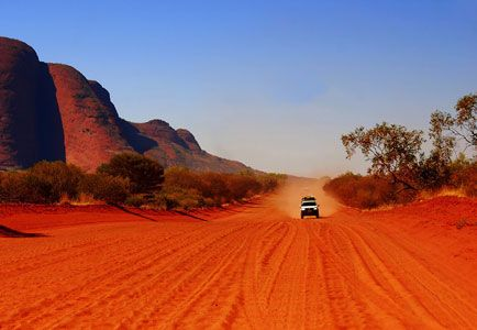Red Road to Kata Tjuta, centre of Australia & yes the dirt is really that colour by Sonja Blom