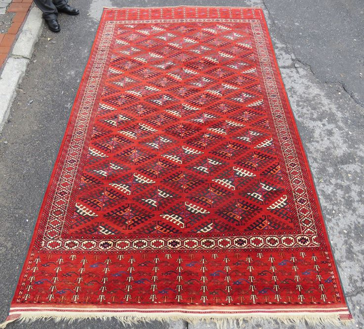Antique Turkoman rug 3,25x1,92 cm