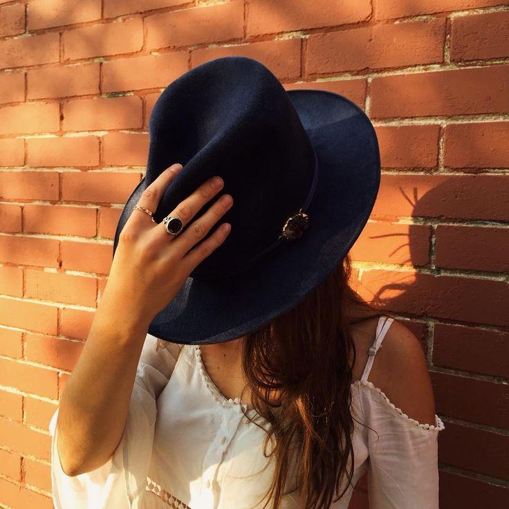 High Spirits Fedora Hat made of angora felt, with an amethyst stone
