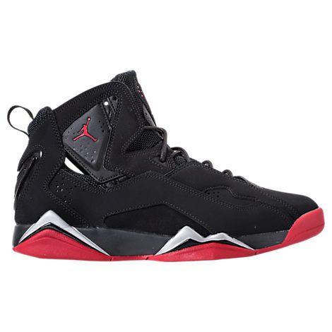 NIKE MEN'S JORDAN TRUE FLIGHT BASKETBALL SHOES, BLACK/RED. #nike #shoes #