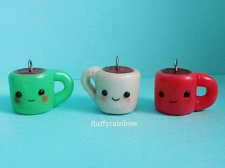 Kawaii polymer clay mugs