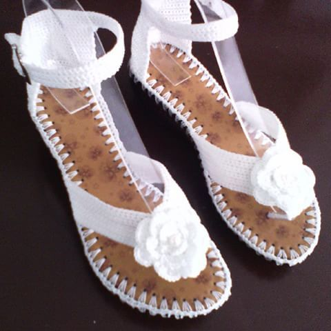 sandalias tejidas a crochet - Pesquisa Google