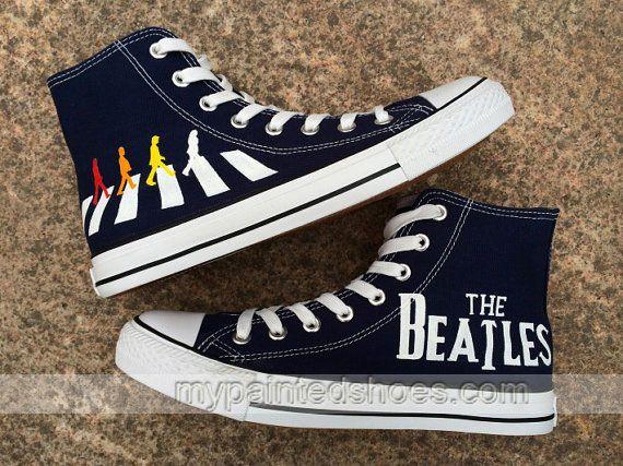 The Beatles Converse Painted Custom The Beatles Custom Hand Pain