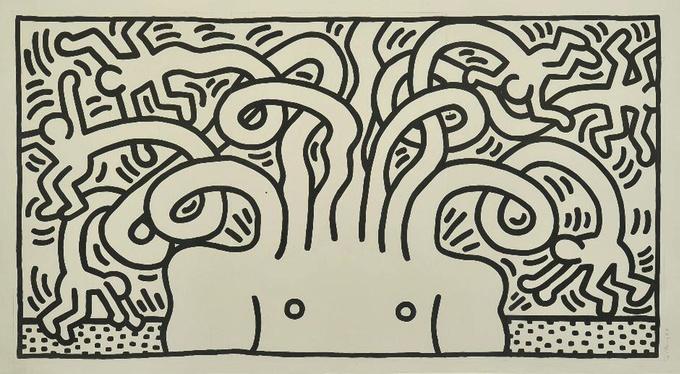 #Medusa Head 1986. Edizione: N. 11/24. Firmato, datato e numerato in basso a destra. Dimensioni: Cm. 246,00 x 136,50. Tecnica: Acquatinta.