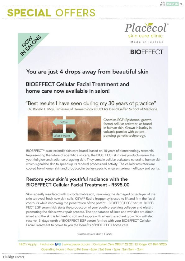 Bio Effect now available at Placecol