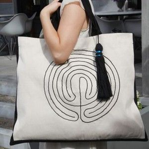 EFL Gallery | Product Categories | Handmade Bags Summer is comming. € 104,00  http://eflgallery.com/?product=beach-shopping-bag-minoan-labyrinthe