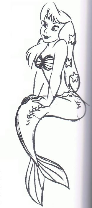 concept art - peter pan mermaid #disney Looks a lot like Ariel or one of her sisters