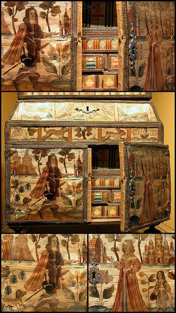 17C Embroidered casket by Kotomicreations, via Flickr - So beautiful!