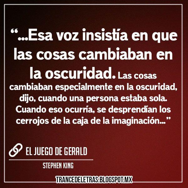 El Juego de Gerald de Stephen King