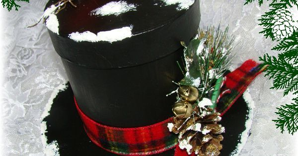 How to Create a Frosty the Snowman Top Hat Gift Box   Projects to Try   Pinterest   Gift boxes, Boxes and Black