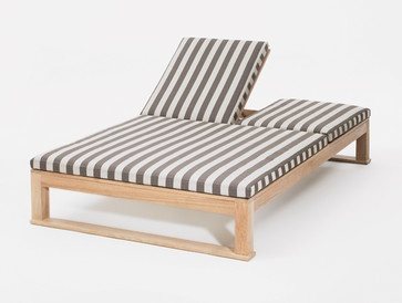 St. Barts Estran Double Chaise contemporary outdoor chaise lounges