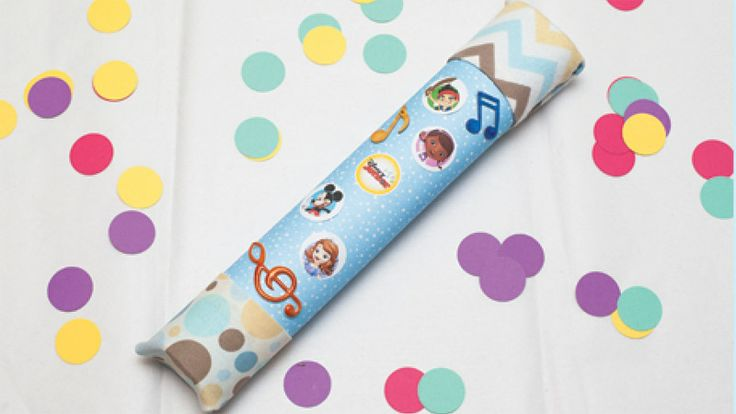 Dj shuffle rainstick disney junior crafts for kids