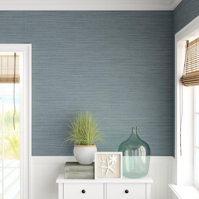Chesterle Linen 33 L X 21 W Texture Wallpaper Roll In 2020 Textured Wallpaper Kitchen Wallpaper Accent Wall Grasscloth Wallpaper