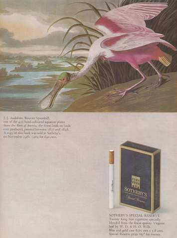 Sotheby's Cigarettes Advert  Never heard of this brand??  #70sadverts