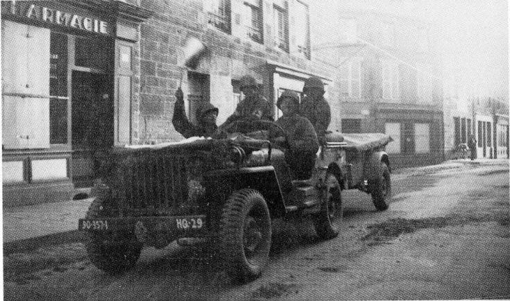90th Division Association, Inc. - Jeep, Hq, I Co. 357th IR, 90th ID, Gorron