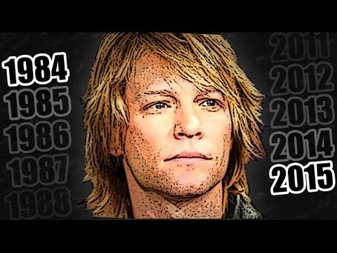 JON BON JOVI's facial history (1984-2015). With his best songs -