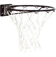 Spalding Basketball Accessories 7809S Black Standard Rim White Net