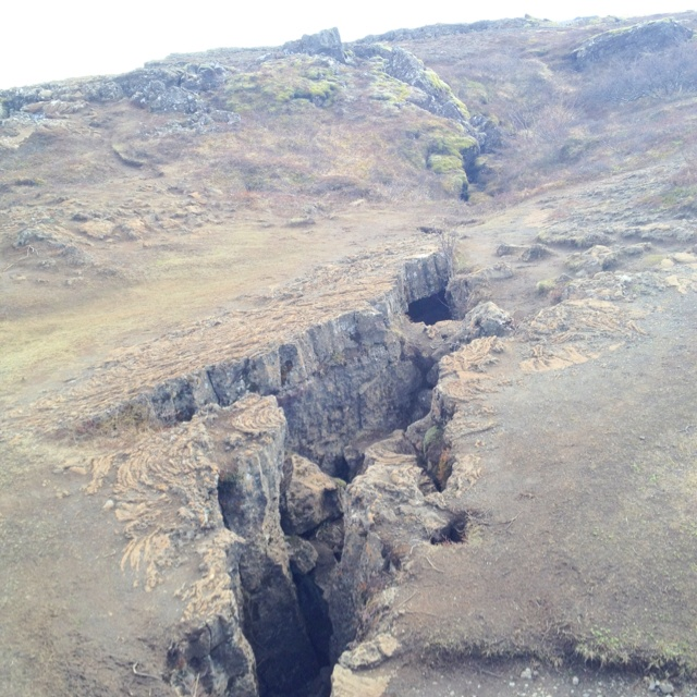 The Eurasian and North American tectonic plates - Iceland