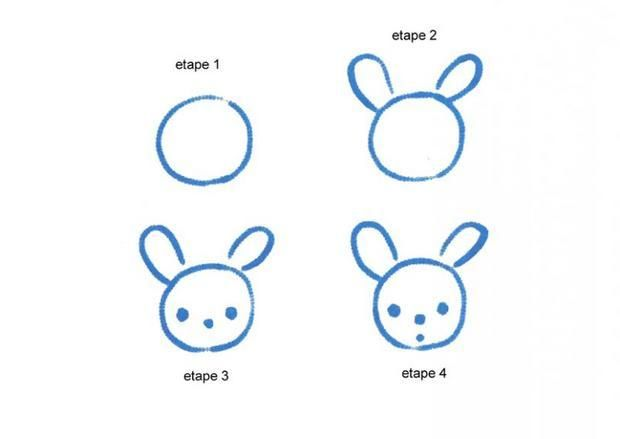 Apprendre A Dessiner Une Tete De Lapin Dessins Simples Facile A Dessiner Dessins Simples Comment Dessiner Un Lapin