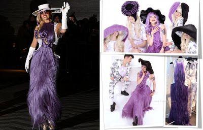 """Les Petites Mains, histoire de mode enfantine: Cheveux chéris – les bijoux en cheveux. Lady Gaga porte une robe en cheveux de la collection automne 2012 """"Charl' de Jouy"""" de Charly Le Mindu"""
