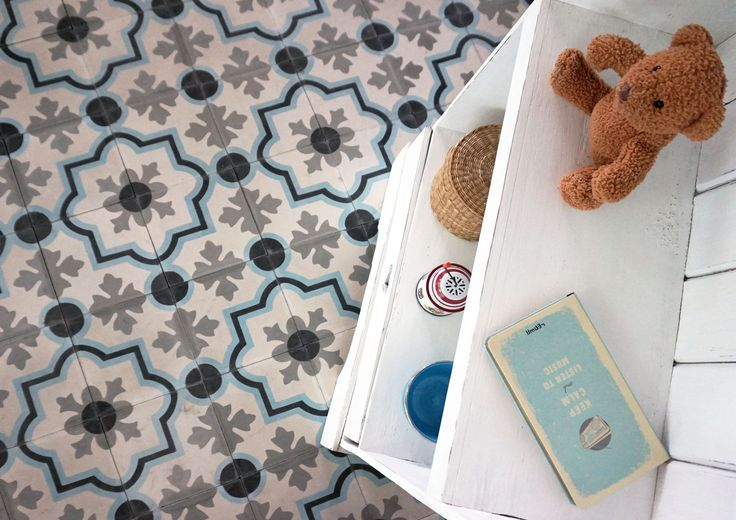 meknes cement tiles in a classic combination