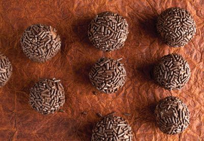 Decadent and chewy brigadeiros are a beloved Brazilian treat.