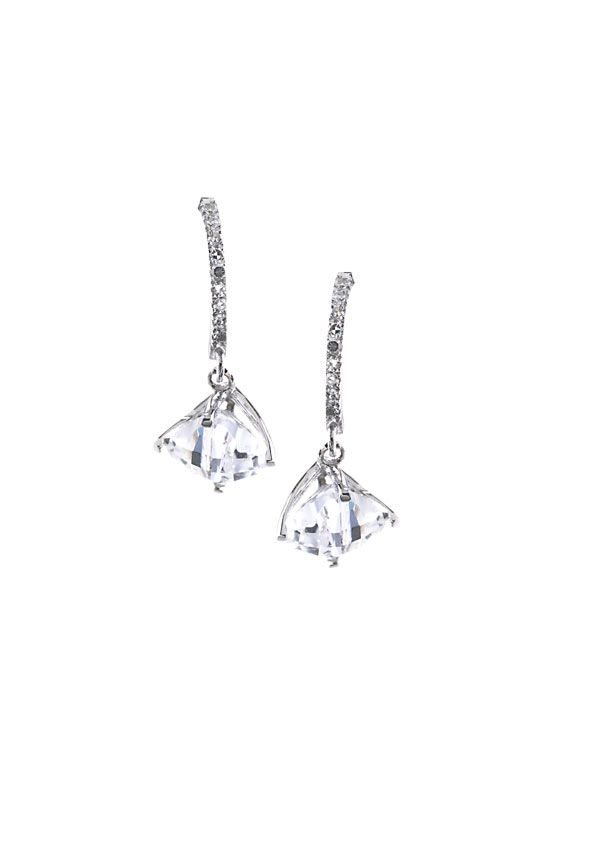 Créoles or blanc 750/1000 avec diamant et topaze #jeandelatour_officiel #bijoux #bijouterie #bijoutier #boucles #bijouxfrance