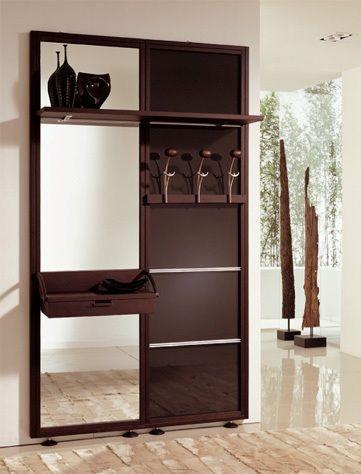 hallway shelf with mirror