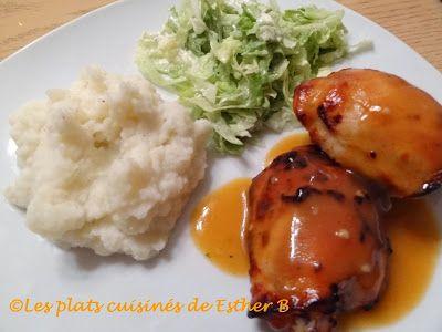 Les plats cuisinés de Esther B: Hauts de cuisse de poulet grillé, sauce B.B.Q. maison