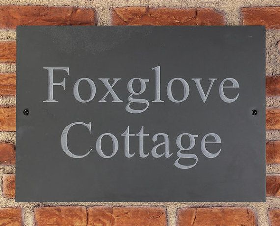 Personalised Slate / House Sign / Plaque / Door / by HouseSignCo