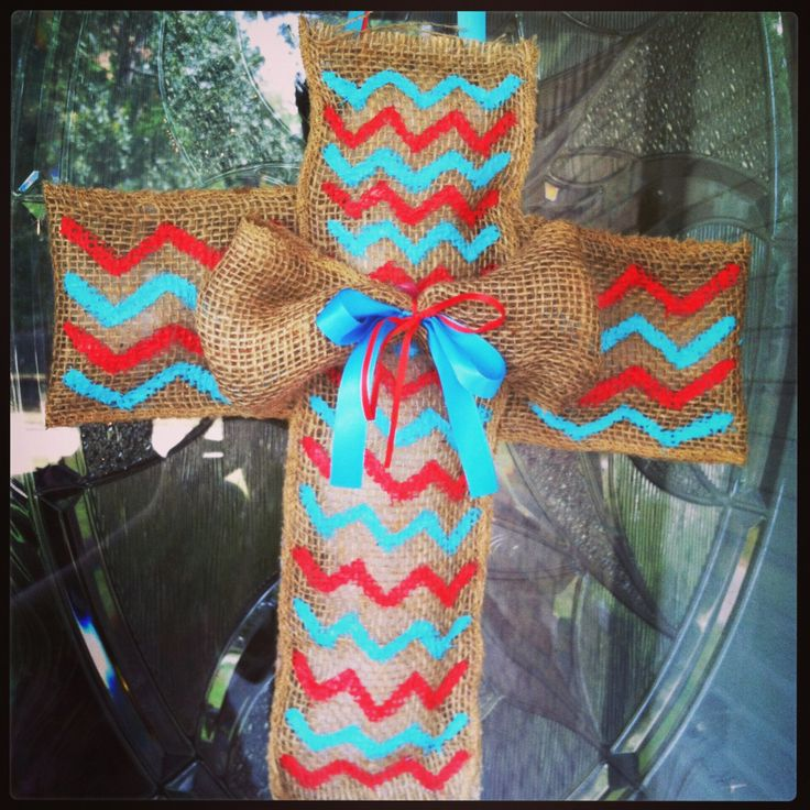 204 best crosses painted fabric bedazzled images on for Burlap fabric projects