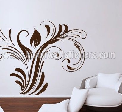 Luxury Floral Sticker - Moon Wall Stickers