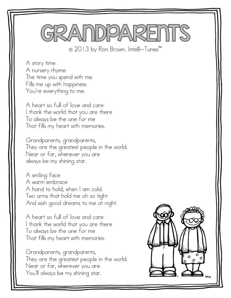 Grandparents Song (by Ron Brown from Intelli-Tunes via Teacher Idea Factory): …