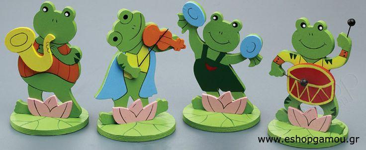 Ξύλινοι Βάτραχοι Μουσικοί Κωδ.611080-999 - Eshopgamou.gr