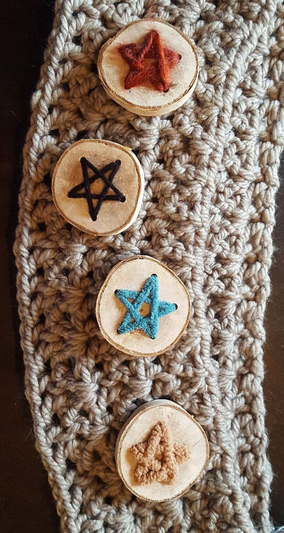 Hey, I found this really awesome Etsy listing at https://www.etsy.com/ca/listing/469116804/pentagram-yarn-pattern-buttons-2