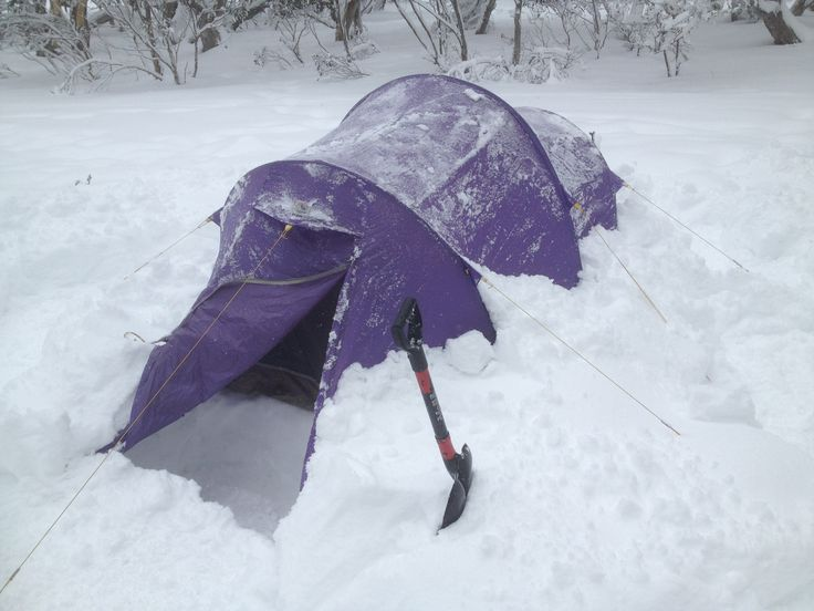 At last I have dug out my snow  tent over 20cm of snow on it (2013) www.australianphotos.com.au