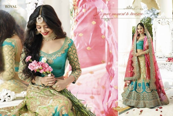 Royal Lehenga choli for wedding 13046 ₹ 10,935 SALE!  ₹ 9,698