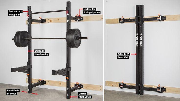 Rogue RML-3W Fold Back Wall Mount Rack space saving fold away rack $495