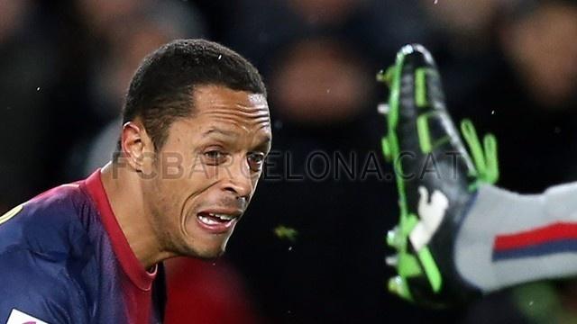 Adriano Correia, FC Barcelona. | FC Barcelona 5-1 Osasuna. 2013-01-27.