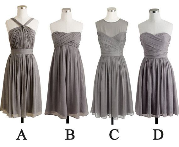 gray bridesmaid dresses short bridesmaid dresses by fitdesign, $93.00