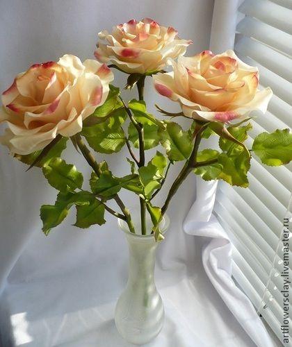 Цветы ручной работы. Ярмарка Мастеров - ручная работа Розы из полимерной глины. Handmade.